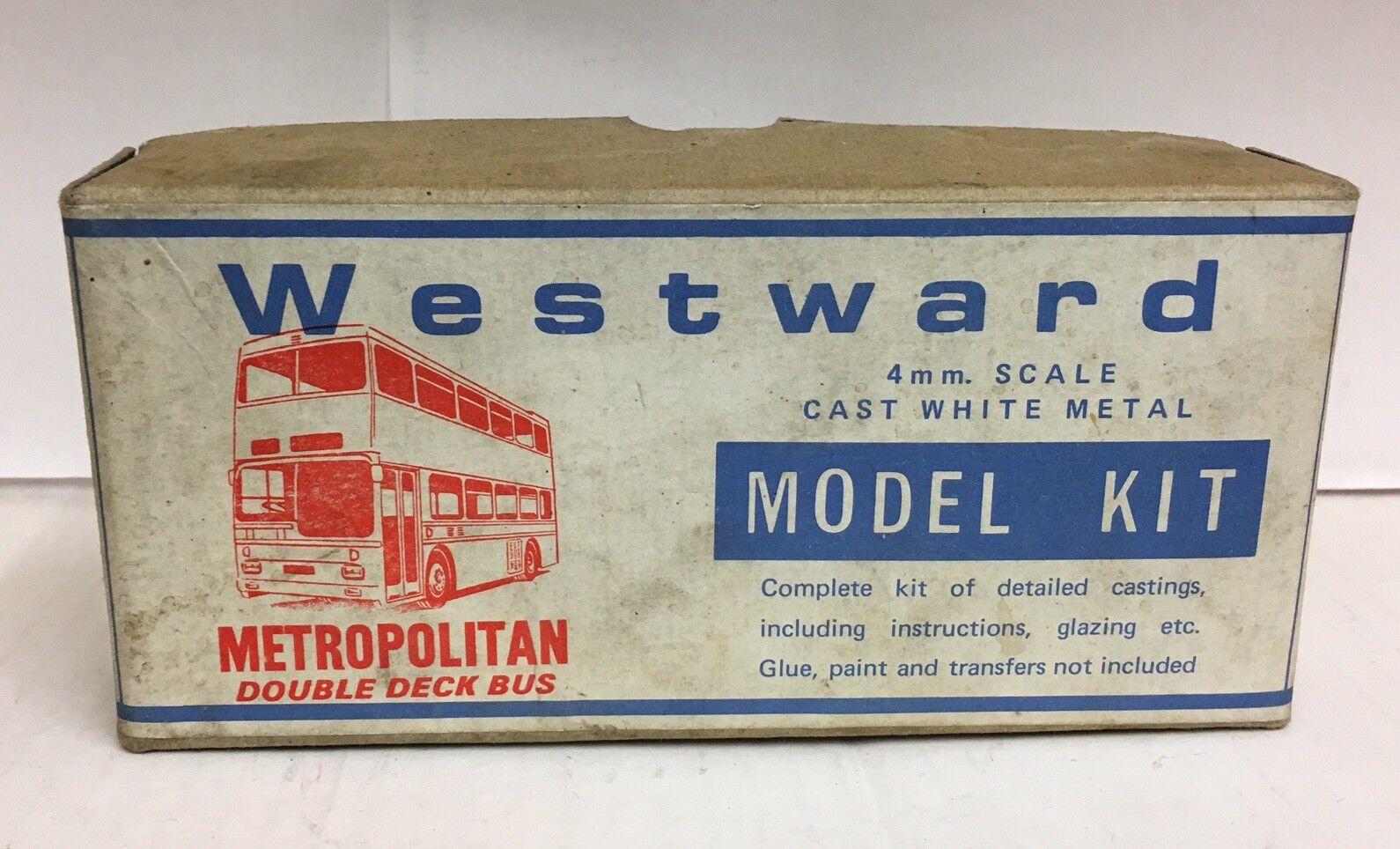 Westward Metropolitan Double pont en métal blanc Bus Kit échelle 1-76 | De Haute Qualité Et De Bas Frais Généraux
