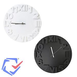 Horloge Murale Moderne Platinet Noir Ou Blanc Electromenager Design