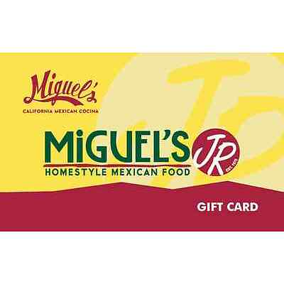 Miguel's Jr Restaurants Gift Card - $25, $50 or $100 - Email delivery