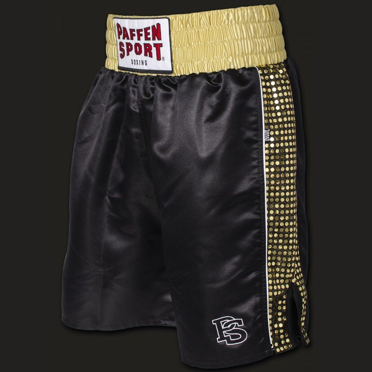 Pro Glory Profi Boxerhose Schwarz Gold. Gold. Gold. Gr. S - XXL, Wettkampf. Training. Boxen    Ausgezeichnet  0013d5