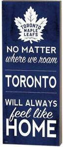 """Toronto Maple Leafs """"No Matter Where We Roam"""" Wood Sign (New) Canada Preview"""