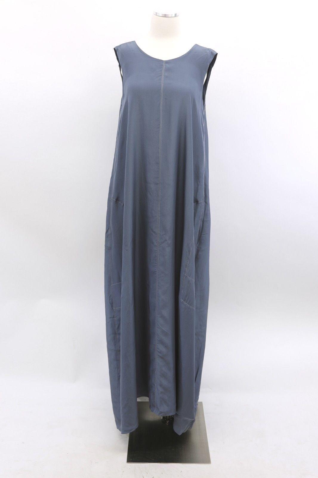 Nuevo con etiquetas  2645  Brunello Cucinelli 100% Seda Metálico Satinado Vestido Con Bolsillos M A186 Shift  más vendido