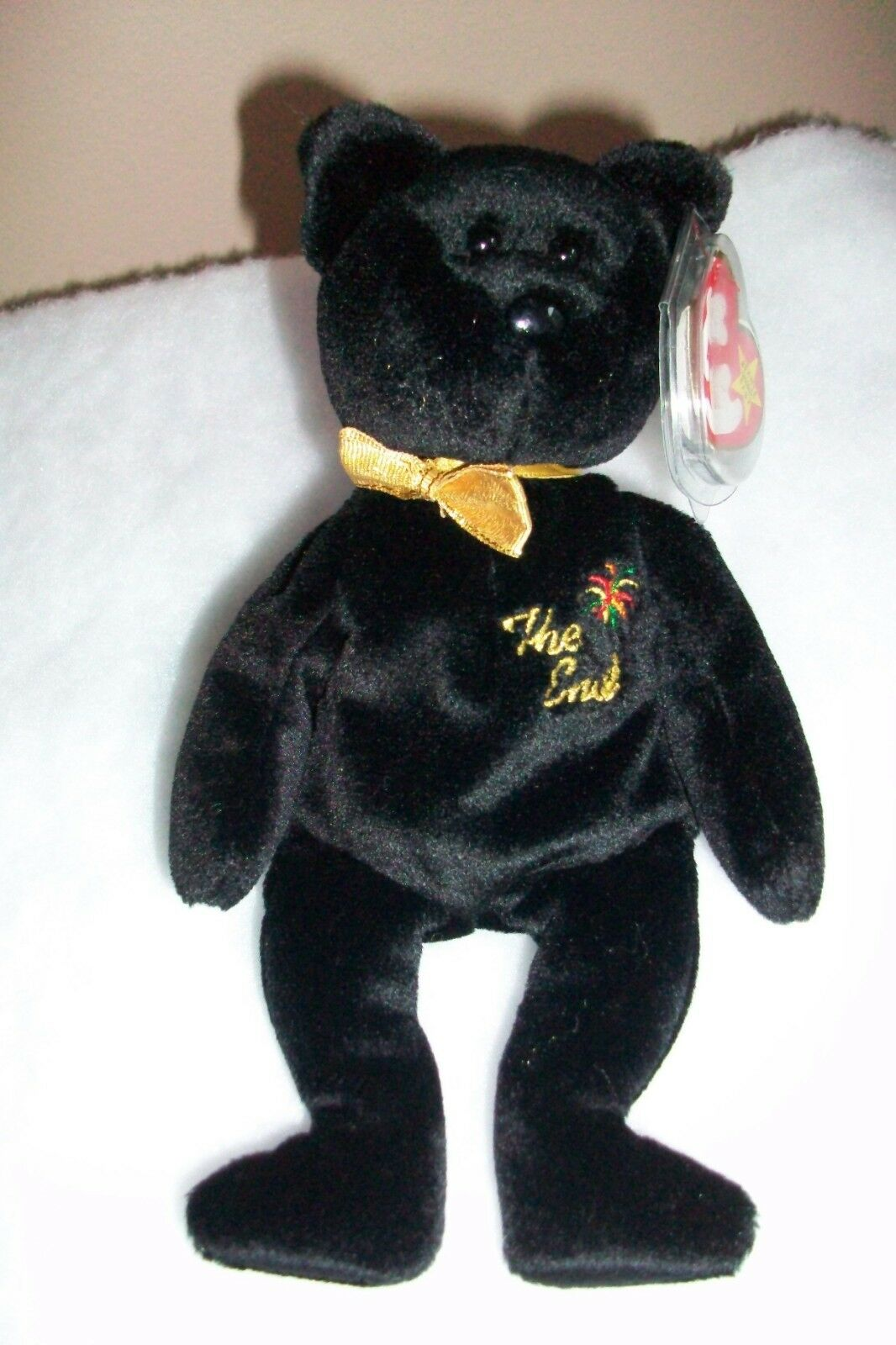 40e286bfe46 Retired Ty Beanie Baby 1999 The End with Errors -Very Rare - New with Mint