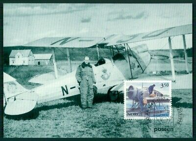 Norwegen Mk 1997 Plane Postflight Oslo-malmÖ Maximumkarte Mc Cm En85 Schnelle Farbe