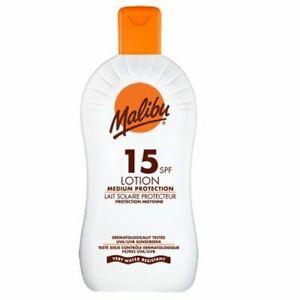 MALIBU-GUARDAROBA-15-SPF-Sun-Tan-lozione-protezione-resistente-all-039-acqua-400ml-Schermo-UVA