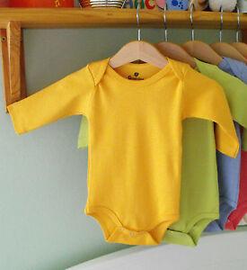 3e56c518a MANGO 100% Organic Kids Cotton Clothes Babygrow Bodysuit LONG Sleeve ...