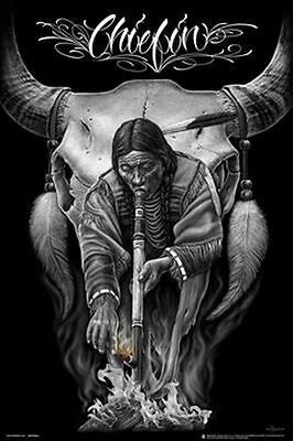 CHIEFIN - DAVID GONZALES ART POSTER - 24x36 SMOKING DGA 3228