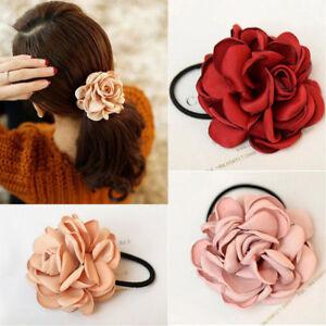 Elastic-Rose-Flower-Rope-Accessories-Hair-Bands-Scrunchie-Ponytail-Holder-XMAS