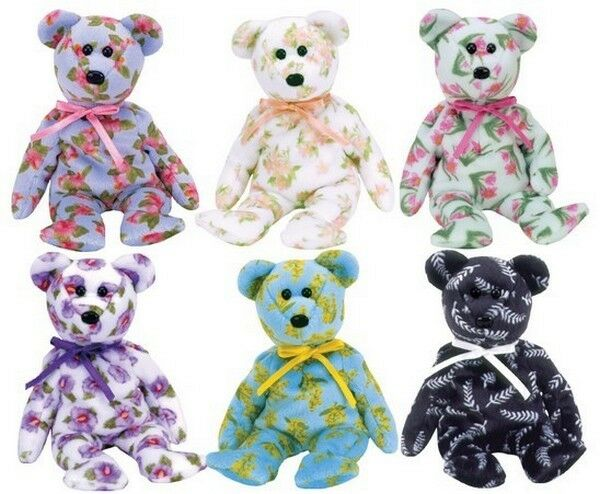 BEANIE BABIES ASIA PACIFIC EXCLUSIVE FLOWER SERIES 2