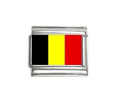 BELGIUM BELGIAN FLAG Photo Italian 9mm Charm PC017 Fits Nomination Classic