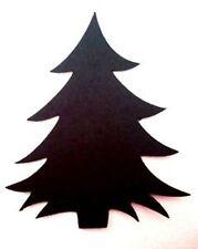 20 X CHRISTMAS TREE XMAS SILHOUETTE  Die Cuts  Quality Black Card