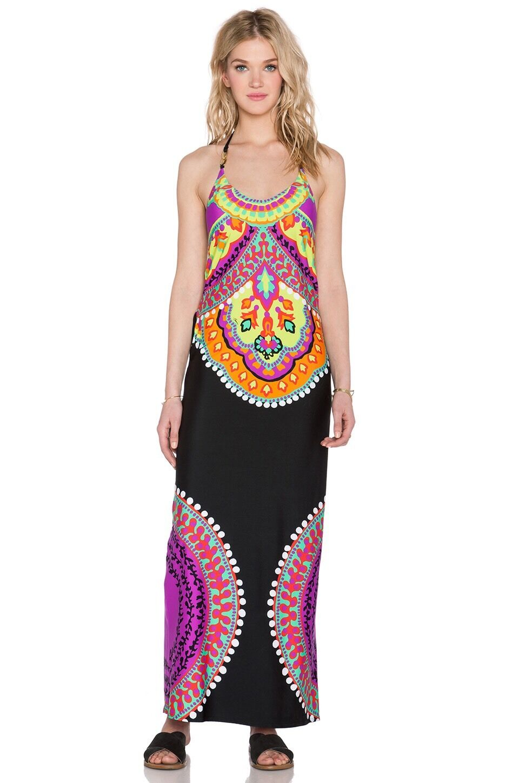 NWT  Sz Medium M Trina Turk Nuevo Sol Swim Cover Maxi Halter Dress