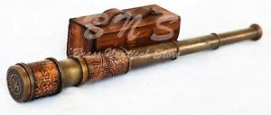 NAUTICAL-MARITIME-TELESCOPE-MARINE-ANTIQUE-BRASS-PIRATE-SPYGLASS-VINTAGE-SCOP