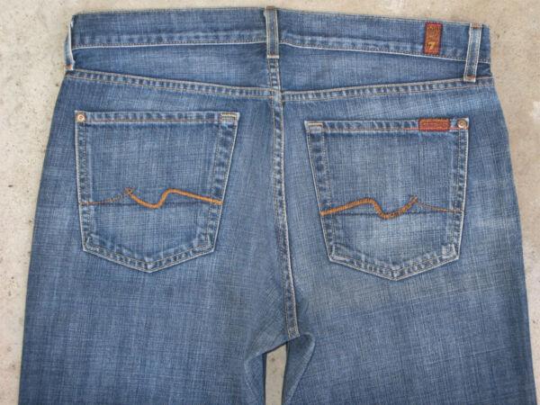 2019 Nuovo Stile 7 Per Tutti Morbido Jeans Uomo Taglie 33 X 29 Sdrucito 100% Cotton Made In Usa