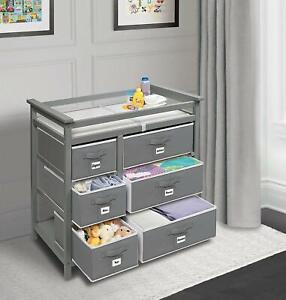 Changing mat area organiser storage tray Teddy Bear Nursery Storage Basket