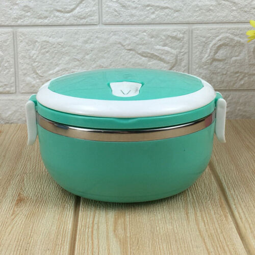 700ml Insulated Lunch Box Food Round Container Children Student Office Travel