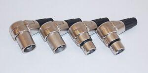 4-pezzi-XLR-SPINA-ANGOLO-90-gradi-2x-volte-2x-Female-o-4x-volte-o-4x-Female
