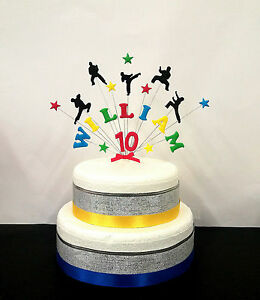 Image Is Loading Karate Martial Arts Birthday Cake Topper Personalised Any