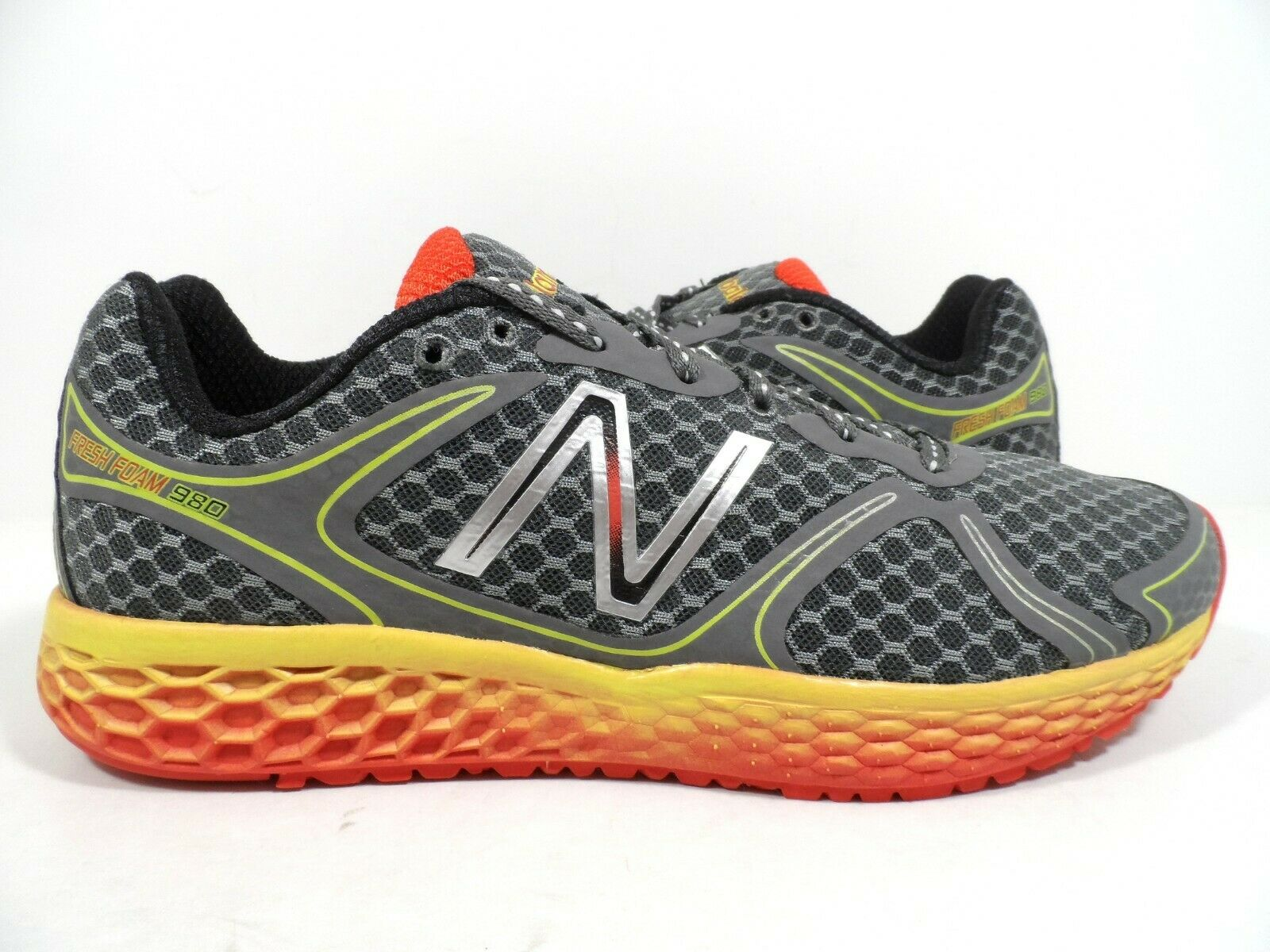 Para Hombre M980V1 Fresh New Balance Foam Calzado para Correr gris naranja tamaño 9.5