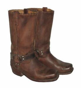 WOW-034-BUFFALO-034-Western-Stiefel-Lederstiefel-Biker-Boots-in-braun-Gr-41