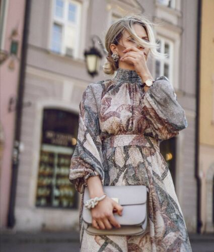 H/&M CONSCIOUS EXCLUSIVE SS2020 WIDE LYOCELL MIDI DRESS BLOGGERS SOLD OUT