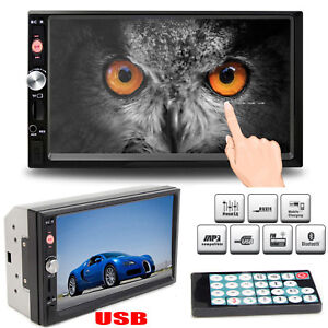 7-Inch-Bluetooth-Car-Radio-Stereo-MP5-Player-Double-2DIN-FM-DVD-USB-Touch-Screen
