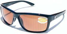NEW Costa Del Mar sunglasses Mag Bay Shiny Black Copper 580P AA11 OCP $168 costa