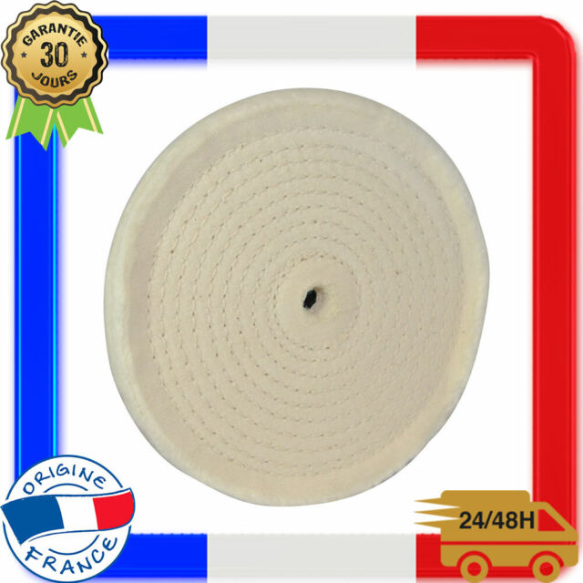 Disque de Polissage 150mm pour Touret Meuleuse Cousu en Spirale Pâte à Polir