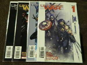 2002-MARVEL-Comics-ULTIMATE-WAR-1-4-Complete-Limited-Series-Set-X-MEN-VF-NM