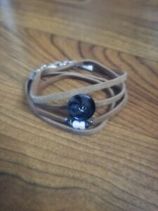 womens-handmade-unique-tan-leather-bracelet-wrap-with-dark-button-amp-white-beads