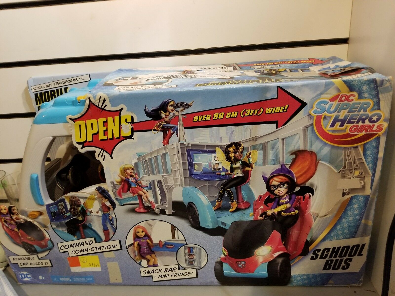 DC Super Hero Girls School School School Bus Vehicle  opened box e7d3b4
