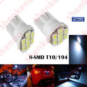 2x W5W Bright White Car LED Bulb T10 SMD High Power 1.5W License Plate Light
