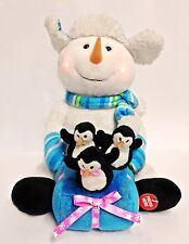 Snowman with Penguin Duet Christmas Singing Toy  'Sleigh Ride' Xmas Toy