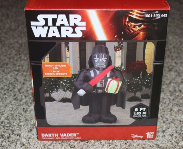 new star wars darth vader 6ft airblown inflatable outdoor christmas decor gemmy - Star Wars Inflatable Christmas Decorations