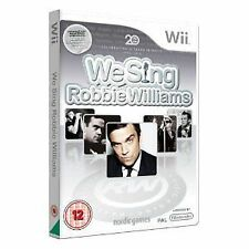 Nintendo Wii gioco We Sing Robbie Williams NUOVO