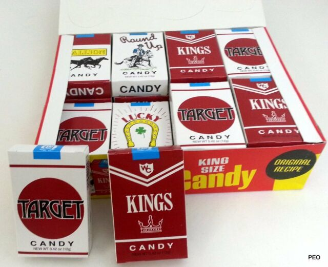 World King Size Candy Cigarettes 24 Count Box Free Shipping Sticks Bulk Candies