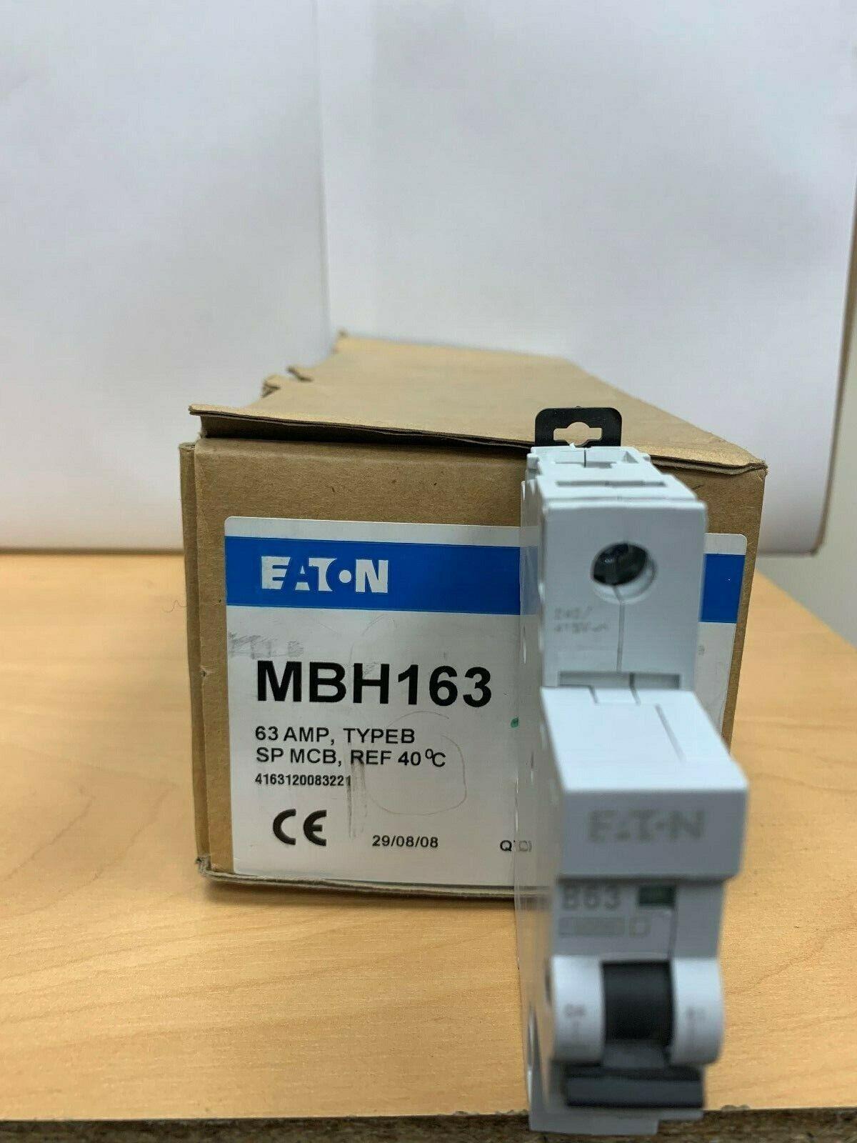 MBH163 EATON MEMSHIELD 2 SP CIRCUIT BREAKER B63 63A