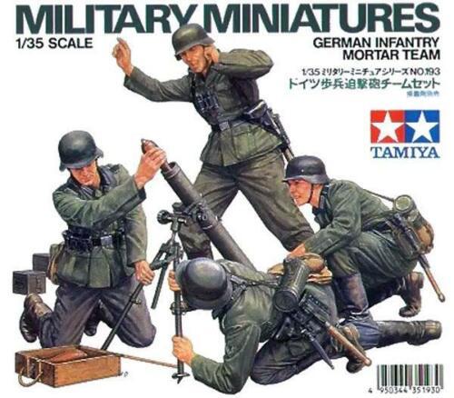 TAMIYA German Infantry Mortar Team 1:35 Scale #35193
