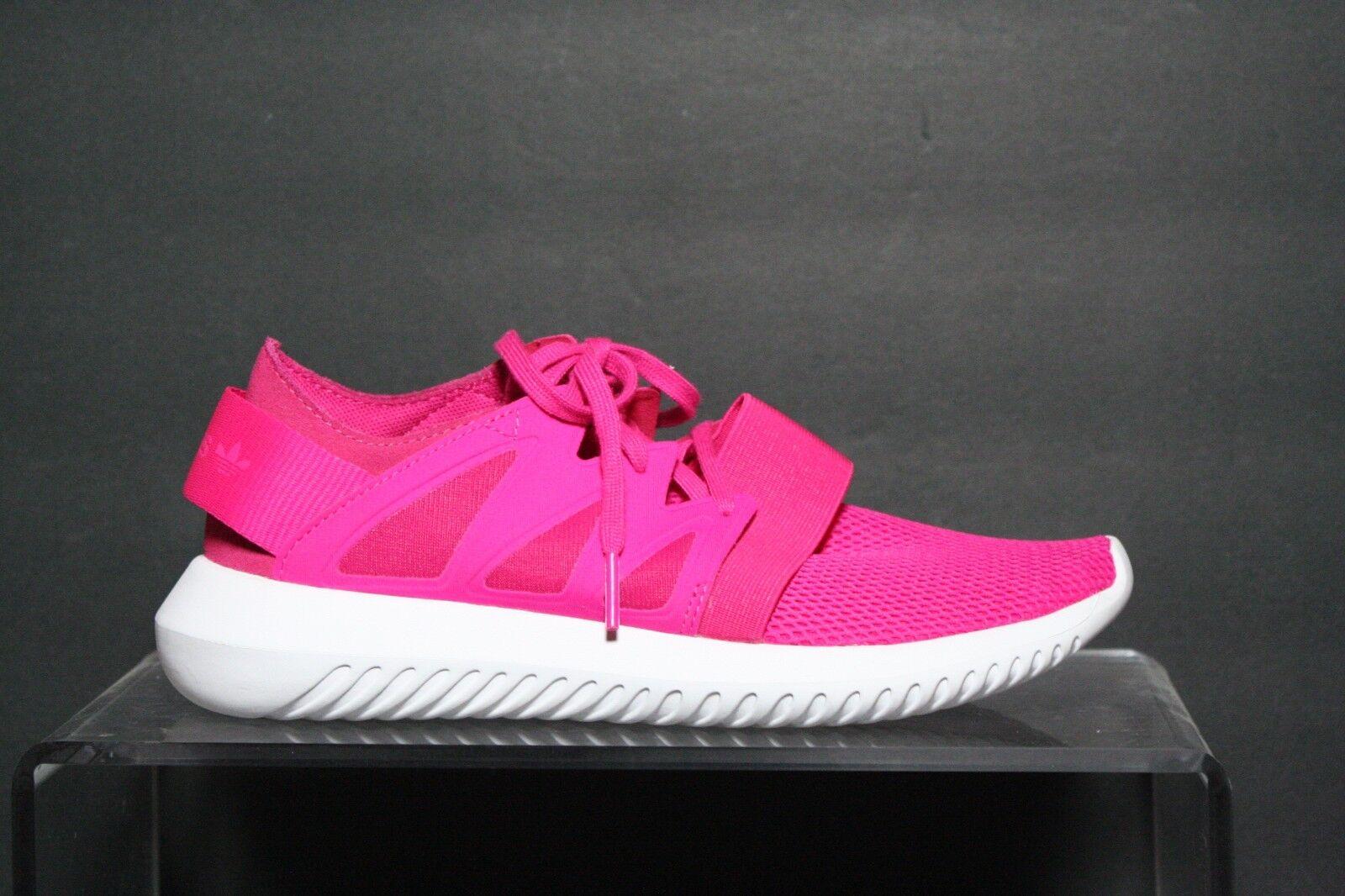 Adidas Originals Tubular Viral Running Multi Hot Pink White Women 6 Athletic EUC