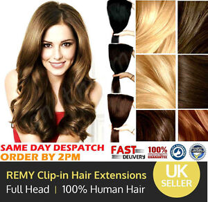 Remy clip in 100 real human hair extensions diy full head 8pcs 18 image is loading remy clip in 100 real human hair extensions pmusecretfo Images