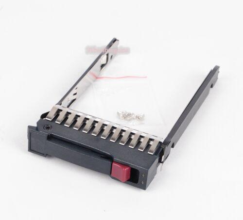 "HP 2.5/"" SAS SATA SSD HARD DRIVE TRAY w// SCREWS 500223-001 MSA50 MSA70 G4//G5//G6"