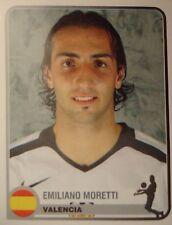 Panini 354 Emiliano Moretti FC Valencia Champions Europe 1955-2005