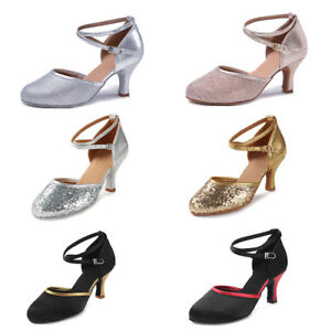 Women/'s Girl/'s lady/'s Ballroom Latin Tango Dance Shoes heeled Salsa Dancing shoe