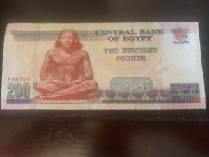 Egypt-200-Pounds-2019-UNC-Egyptian-Banknote-USA-SELLER