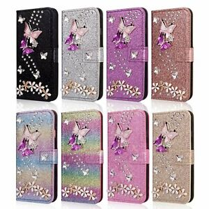 Bling Glitter Butterfly Flip Leather Card Case For Samsung Galaxy S20 S20 Ultra Ebay