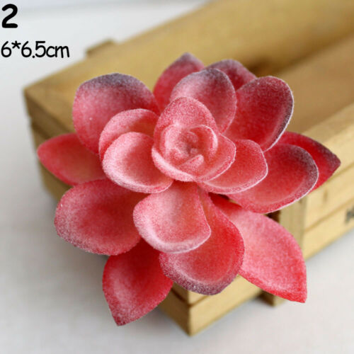 Decoration Bonsai Flocking Flower Red Succulents Artificial  Leaves Fake Grass
