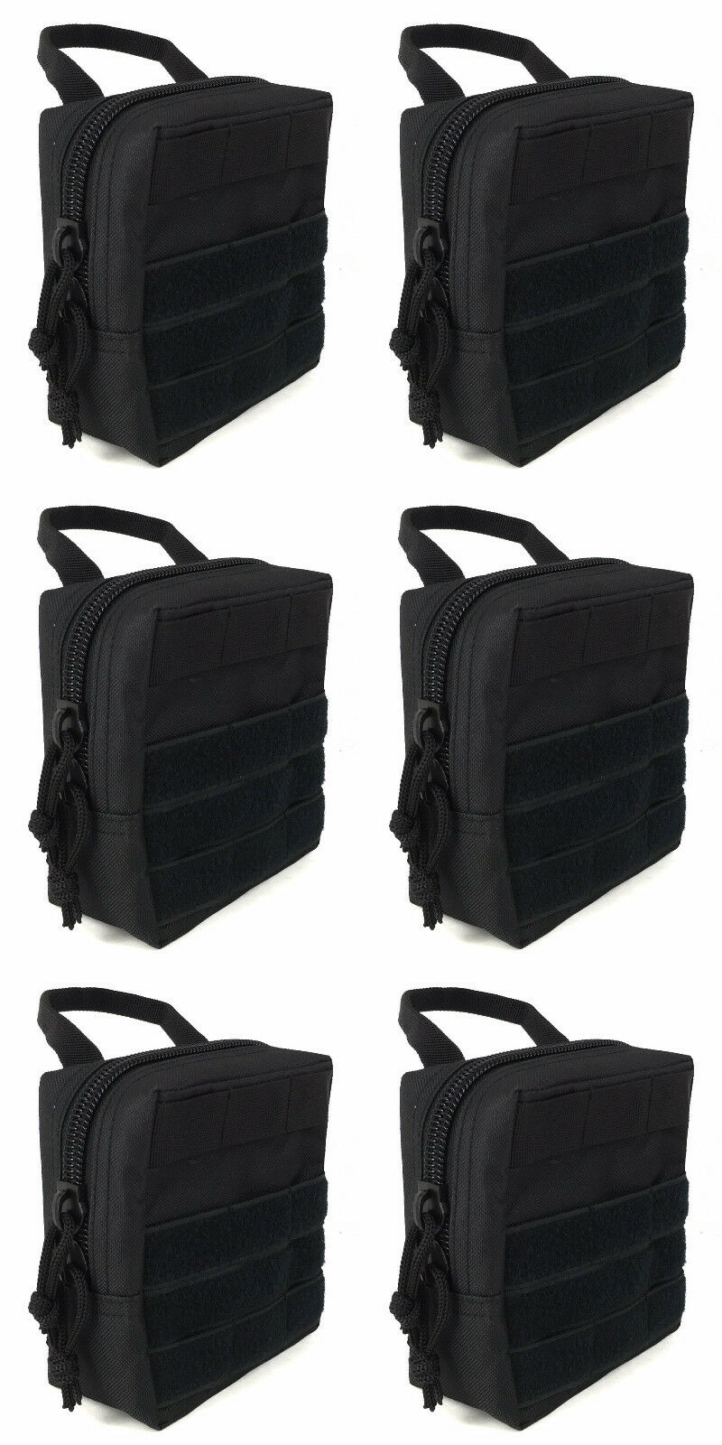 (6) AMMO 762X39 AMMO (6) MODULAR MOLLE UTILITY POUCHES FRONT HOOK LOOP STRAP .762 X 39 9d119e