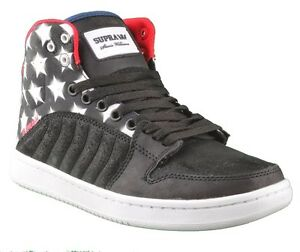 56646c6c1cfe Supra Stevie Williams S1W Badge Shoes Stars   Stripes Black Navy ...