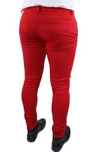 Hose Sommer Herren Rot Battistini Jeans Sartoriale Slim Fit da 42 A 56