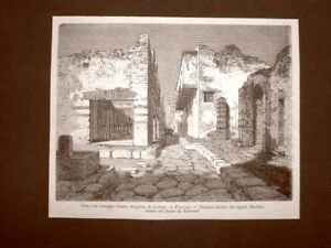 Details About Pompeii In 1863 House With Terrace Closed Recent Discovery Napoli Campania Show Original Title